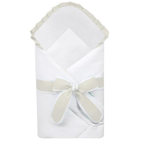 Babyrenka zavinovačka 80x80 cm Basic bílá s mašlí Uni natur R8MBBUNA222