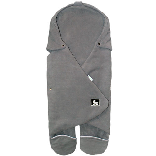 Babyrenka Zavinovačka do autosedačky Combi Fleece fleece šedá lem šedý ZCFF316S440