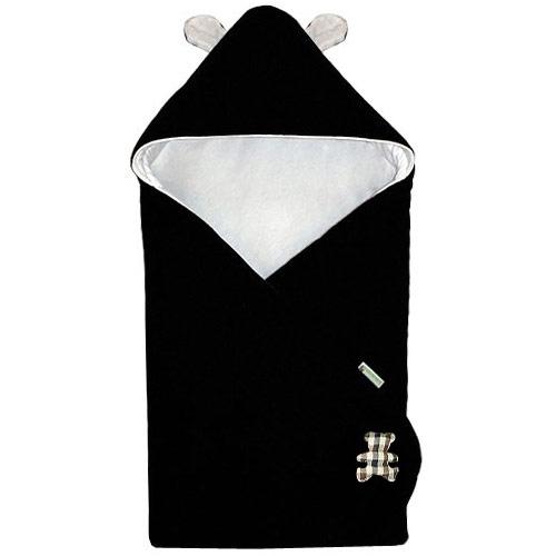 Babyrenka Zavinovačka 85x85 cm s kapucí Uši fleece úplet Panda R85FUU900355
