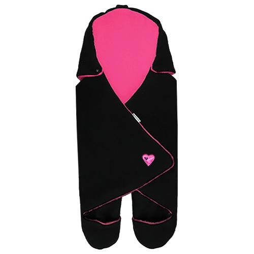 Babyrenka zavinovačka do autosedačky Basic Fleece černá rose 8596060008336
