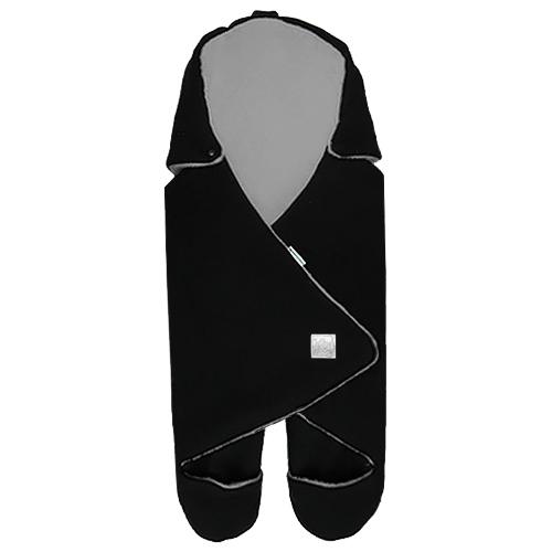 Babyrenka zavinovačka do autosedačky Basic Fleece černá šedá