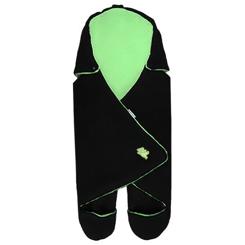 Babyrenka zavinovačka do autosedačky Basic Fleece černá zelená ZAFCZ350
