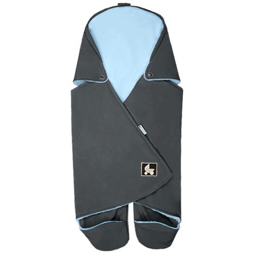 Babyrenka zavinovačka do autosedačky Basic Softshell Polar šedá blue ZAB-SPSB550