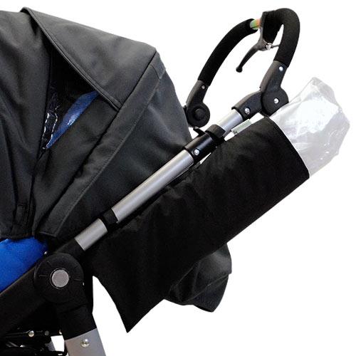 Babyrenka universální obal na pláštěnku pro dětské kočárky malý černý OP900040