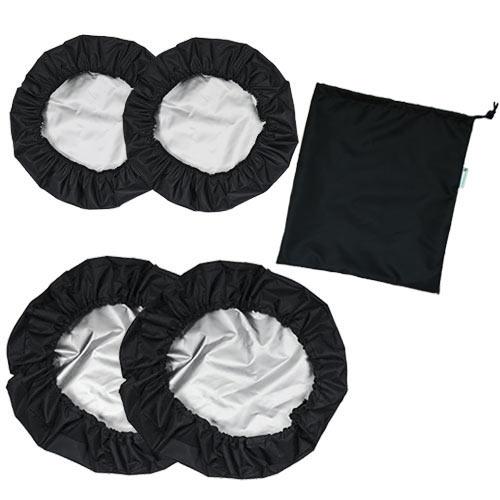 Babyrenka návleky na kola Kombi 2+2 s taškou black NKKB0175