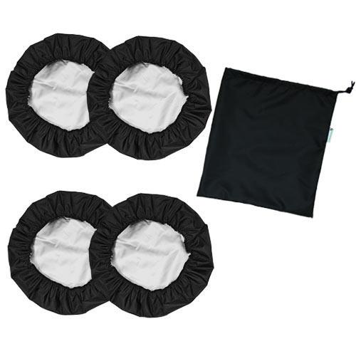 Babyrenka ochranné návleky na kola 12 palců Standart 4 ks se sáčkem black NKSB0155