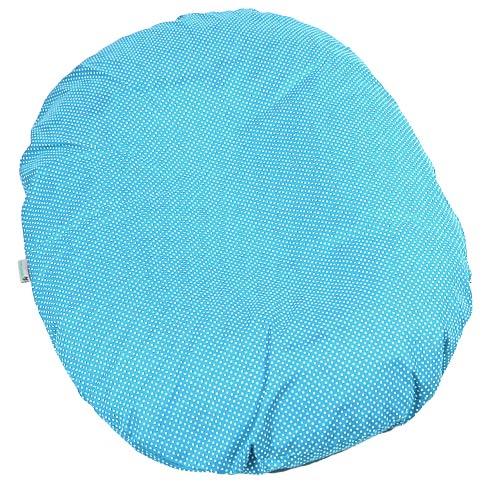 Babyrenka kojenecký relaxační polštář 80x60 cm Dots Tyrkys