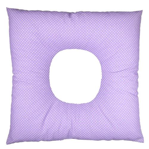 Babyrenka poporodní polštář 45x45 cm kuličky EPS Dots lila PP105DL
