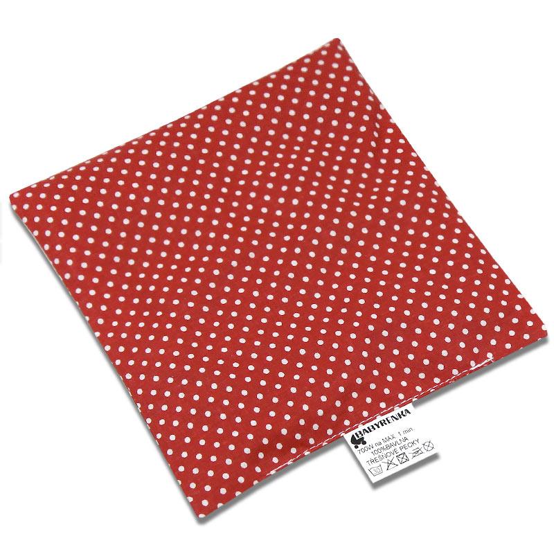 Babyrenka nahřívací polštářek z třešňových pecek Dots red 15x15