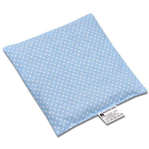 Babyrenka nahřívací polštářek z třešňových pecek Dots blue 15x15 PTPDB47