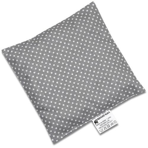 Babyrenka nahřívací polštářek 15x15 cm z třešňových pecek Dots grey PTPDG47