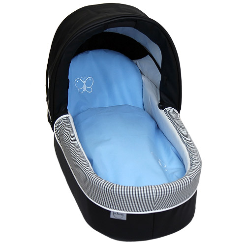 Babyrenka povlečení do kočárku kulaté 35x30,43x52 cm Uni Sky blue s výšivkou