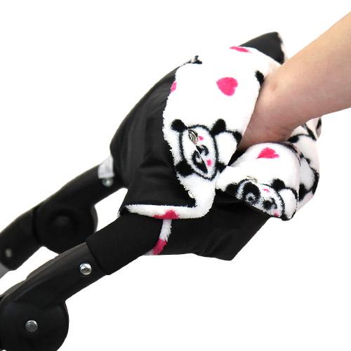 Babyrenka zateplení rukojeti Simple černá Panda ZRSPA145