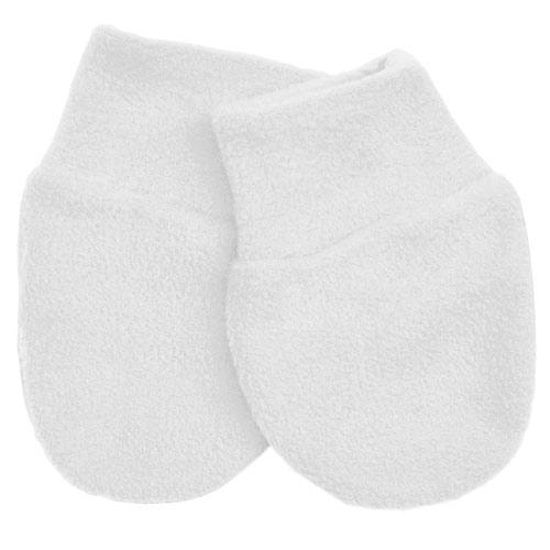 Babyrenka kojenecké rukavičky Fleece White RFW29