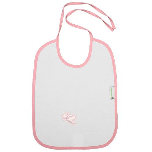 Babyrenka nepropustný bryndák zavazovací Felix pink BNZP52