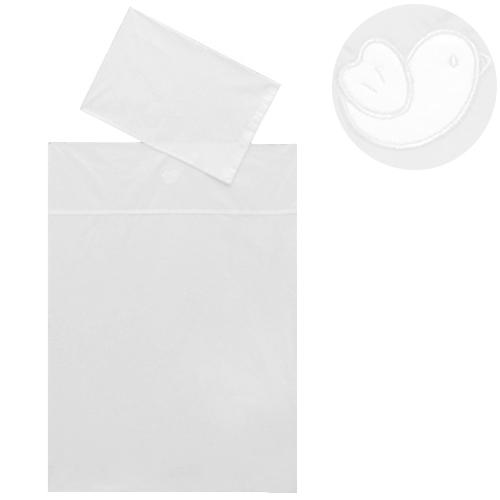 Babyrenka povlečení do postýlky dvoudílné, 40 x 60, 100 x 135 cm, Euro Bird bílá 2DEB010324