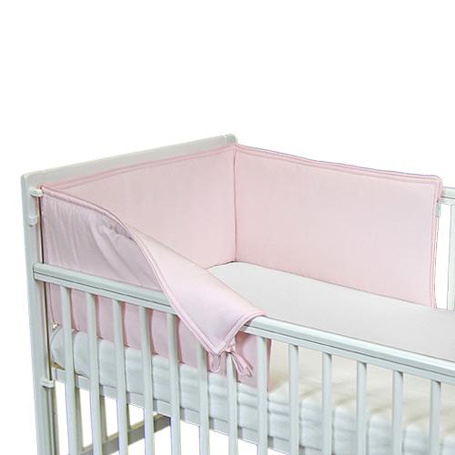 Babyrenka ochranný límec do postýlky 210 cm Uni pink L21010296