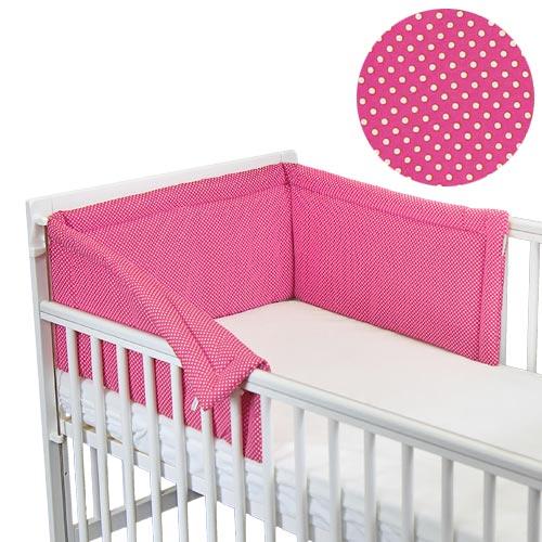 Babyrenka ochranný límec do postýlky 180 cm Basic Dots rose LB18048243