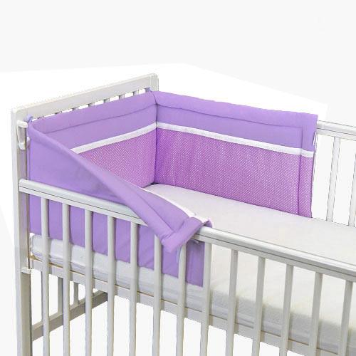 Babyrenka ochranný límec do postýlky 180 cm Duo Violet