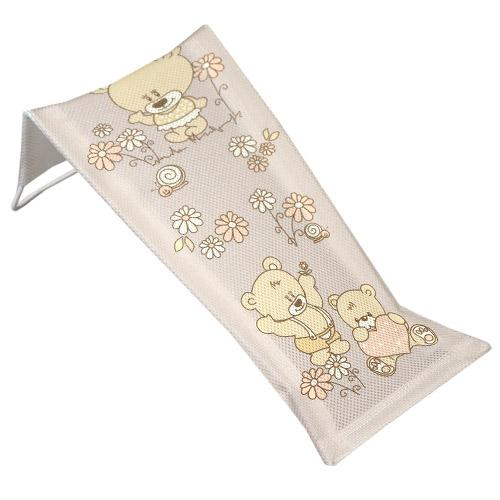 Tega Baby lehátko do vany malé potisk medvídek béžové MS-026-119