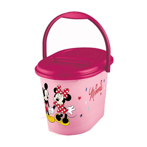 Keeeper kyblík na pleny s víkem Mickey and Minnie růžový 1180055214100