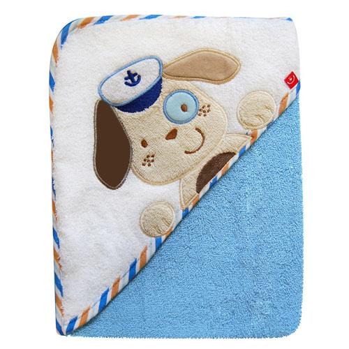 Bobobaby osuška s kapucí 76x76 cm Pes modrý OKR-PM