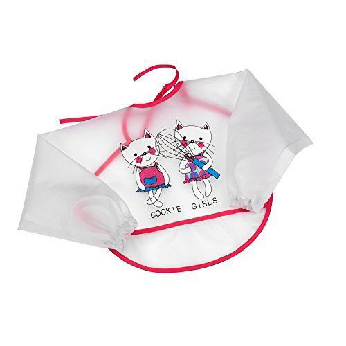 Fashy baby plastový bryndák s rukávem kočky 17018-43