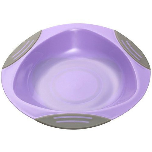 Baby Ono dětský plastový talíř 16 cm s přísavkou fialový