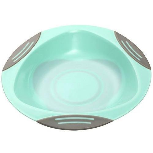 Baby Ono dětský plastový talíř 16 cm s přísavkou mint BO1062M