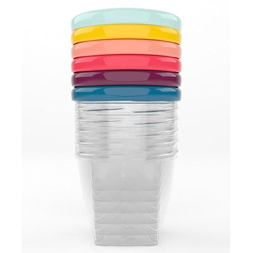 Babymoov barevné misky s víčky 250ml sada 6ks A004309