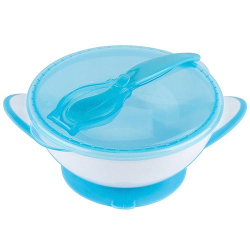 Baby Ono miska 300 ml s přísavkou a lžičkou modrá
