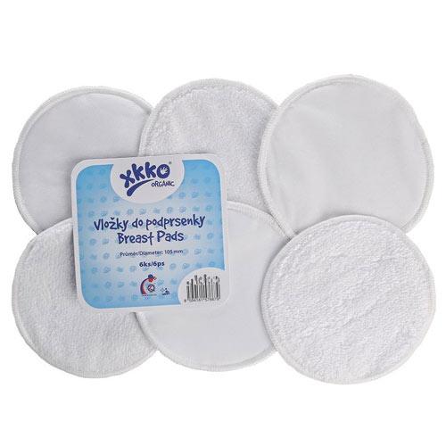 XKKO froté vložky do podprsenky Organic bílé 5ORGBPA001