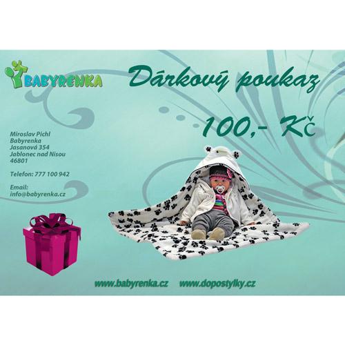 Babyrenka dárkový poukaz 100 Kč DP100