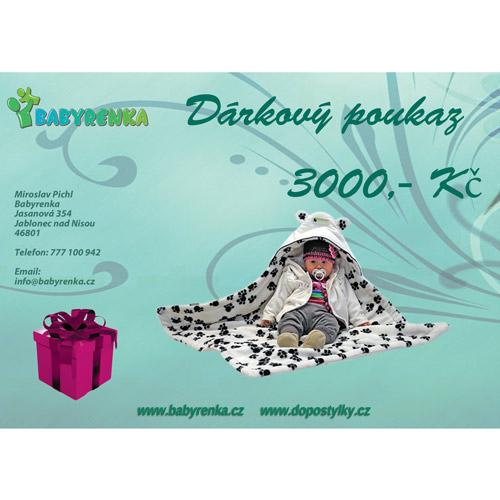 Babyrenka dárkový poukaz 3000 Kč DP3000