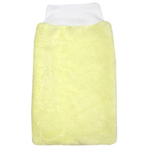 Babyrenka žínka Polar Fleece s nápletem 25x16 cm Light yellow