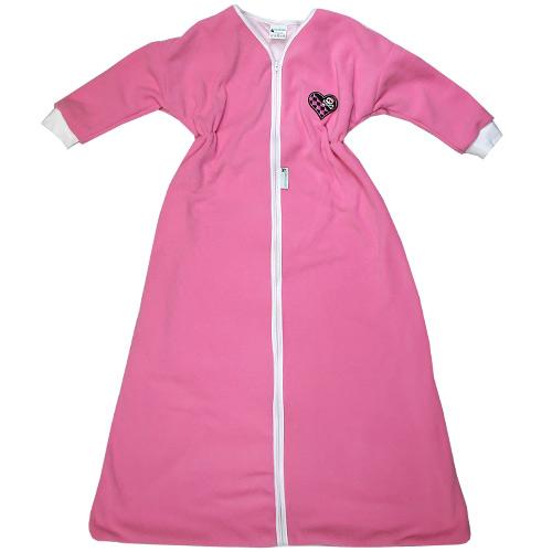 Babyrenka kojenecký spací pytel s rukávem 0-6 m Fleece rose SPRFR-0-6-355