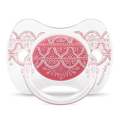 Suavinex Premium Couture silikon fyziologické 18 m + růžové 3162100-3