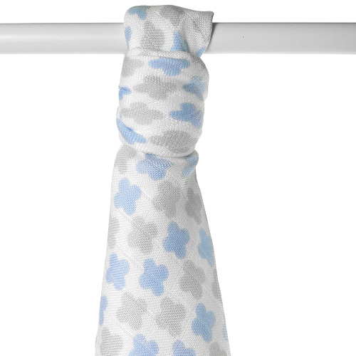 Kikko bambusová osuška 90x100 Scandinavian Baby blue Cross BMB090042