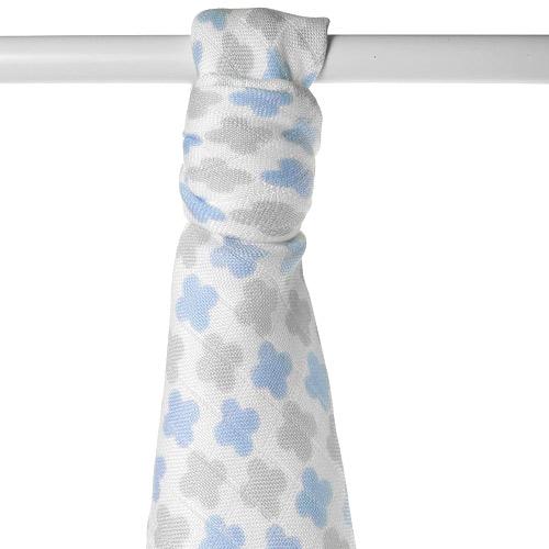 Xkko bambusová osuška 90x100 Scandinavian Baby blue Cross BMB090042