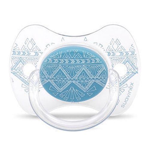 Suavinex Premium Couture 0-4 m dudlík fyziologický světle modrý 8426420045773