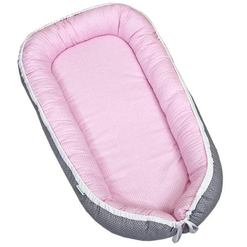 Babyrenka hnízdo Dots šedá pink H530SP