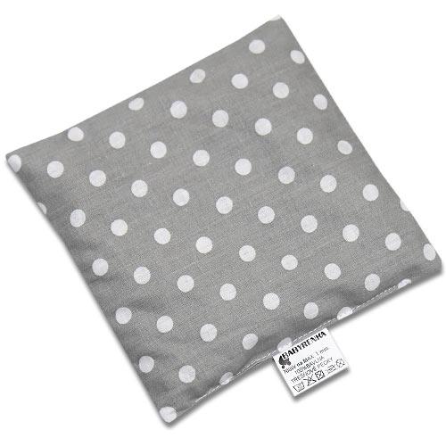 Babyrenka nahřívací polštářek 15x15 cm z třešňových pecek Dots Big grey 8596060021694