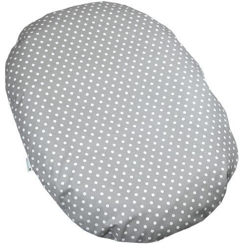 Babyrenka kojenecký relaxační polštář 80x60 cm Dots Big grey KRPDBG380