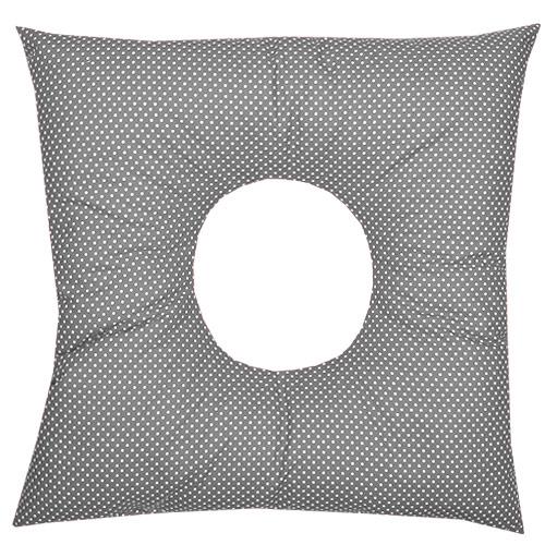Babyrenka poporodní polštář 45x45 cm kuličky EPS Dots grey PP105DG