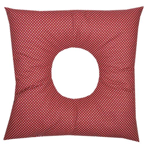Babyrenka poporodní polštář 45x45 cm kuličky EPS Dots red PP105DR