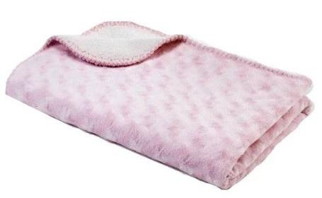 BabyDan dětská deka Double fleece světle růžová 6354-40