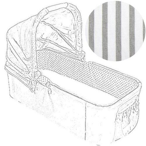 Babyrenka hygienická vložka pro korbu Easy Walker Proužek šedý HVEWPRS290