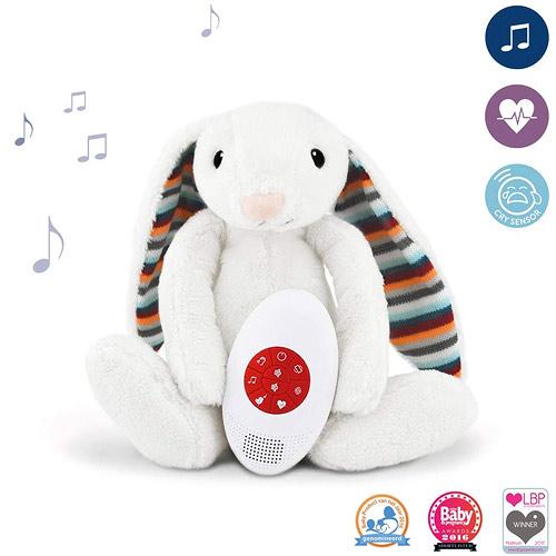 Zazu šumící zvířátko s tlukotem srdce a melodií králíček BIBI 0+ ZA-BIBI-01-ZAZU