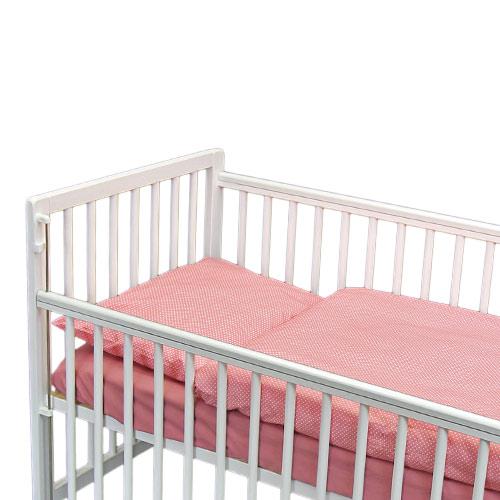 Babyrenka povlečení do postýlky dvoudílné 40 x 60, 90x130 cm  Dots old pink 2DDOP225