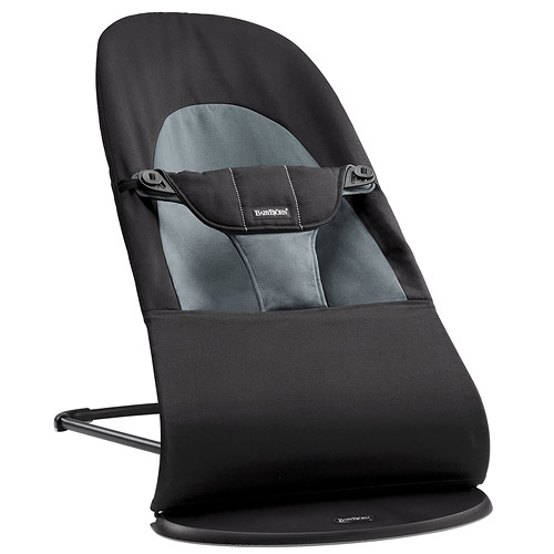 Baby Björn lehátko Balance Soft cotton Black / Dark grey 60-005022A